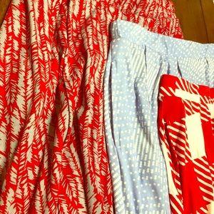 LuLaRoe Medium Madison Skirt - Lot of 3 EUC